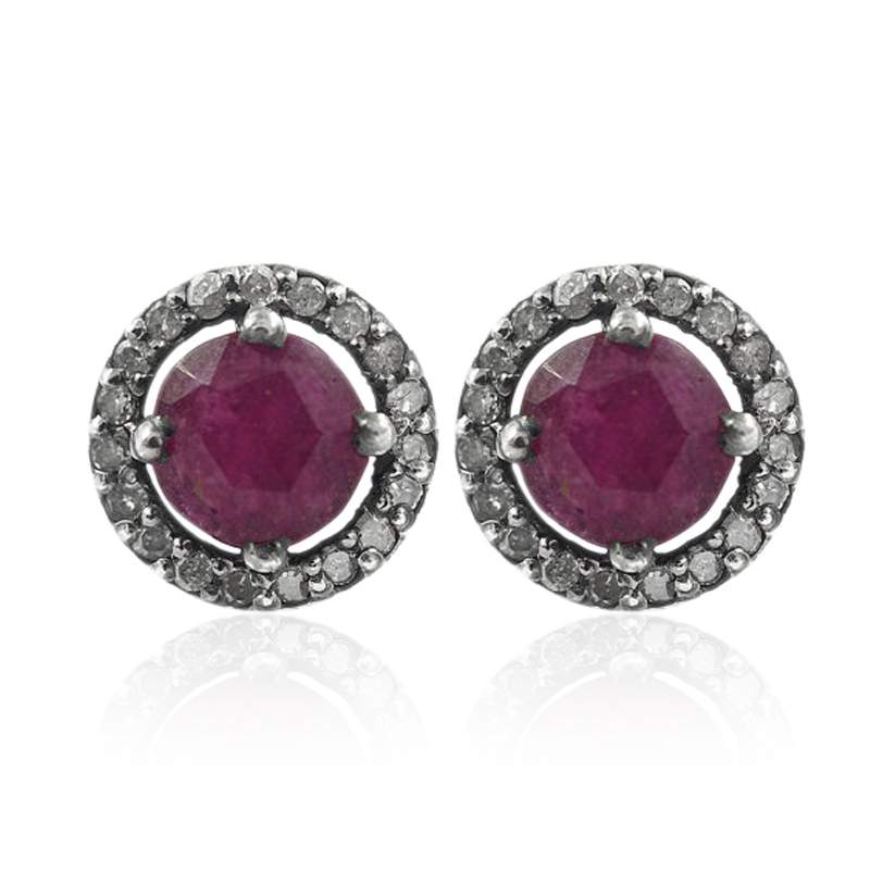 diamond jewelry, Gemstone Silver Earring