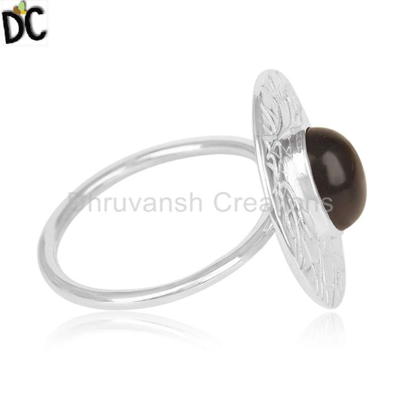 925 Silver Designer Cocktail Ring Jewelry Natural Gemstone Rings Manufacturers