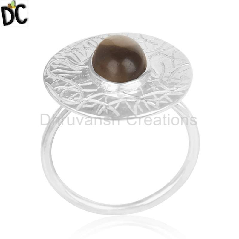 925 Silver Designer Cocktail Ring Jewelry Natural Gemstone Rings Suppliers