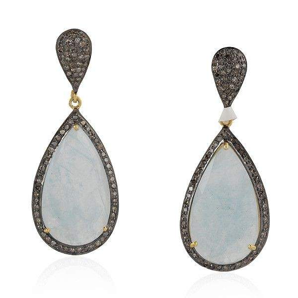 Aqua Gemstone Women Earrings