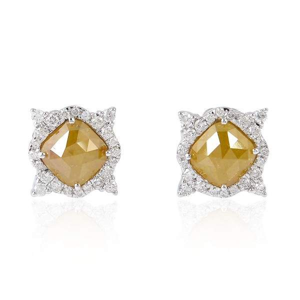 925 Gold Plated Diamond Stud Earring