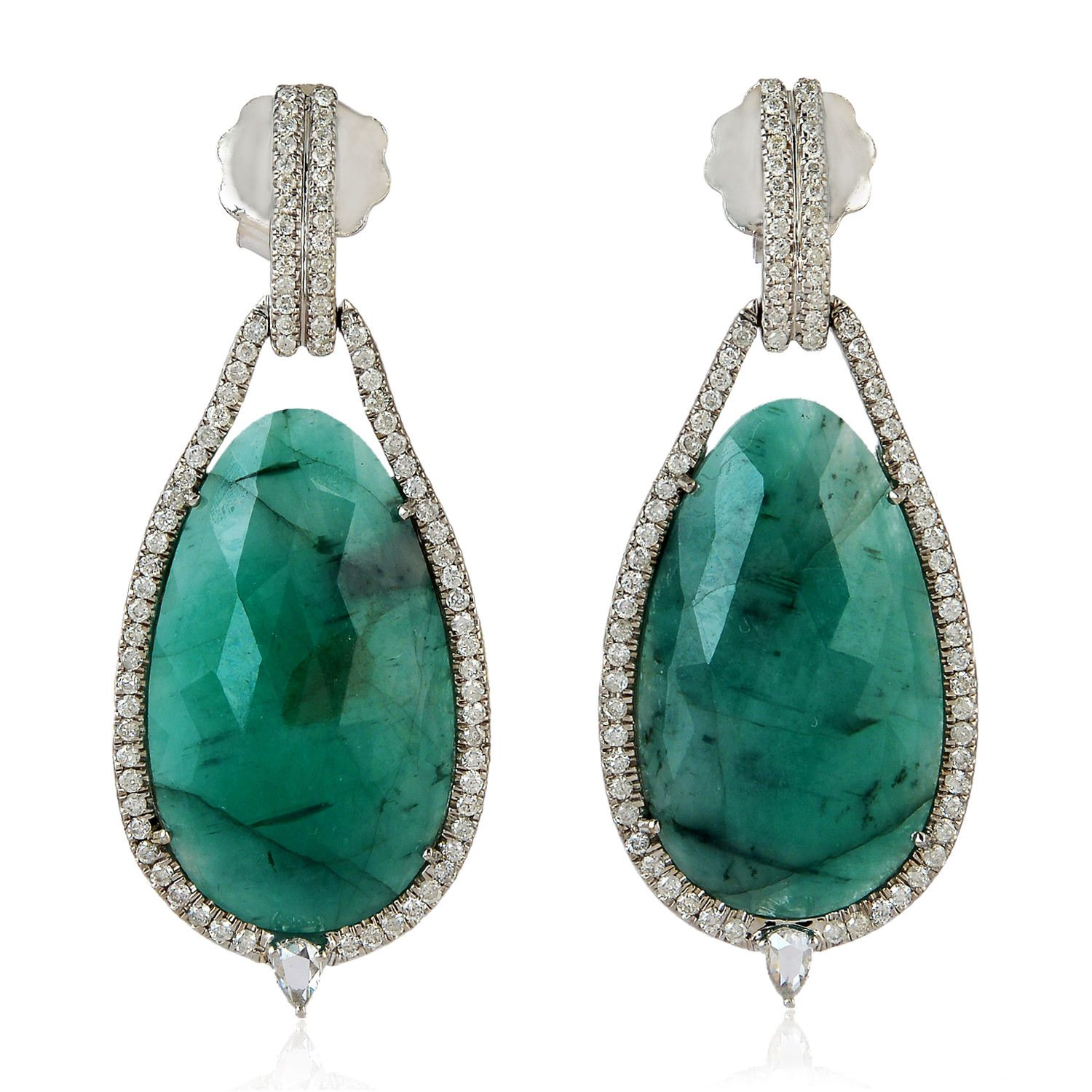 earrings in modern emeralds yellow natural cut emerald product gold