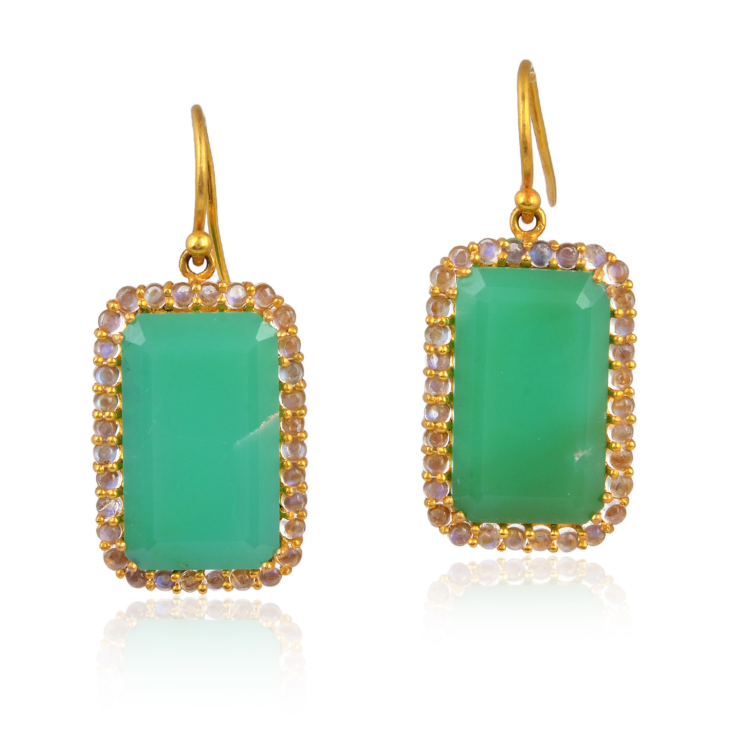 Chrysophrase Gemstone Earring