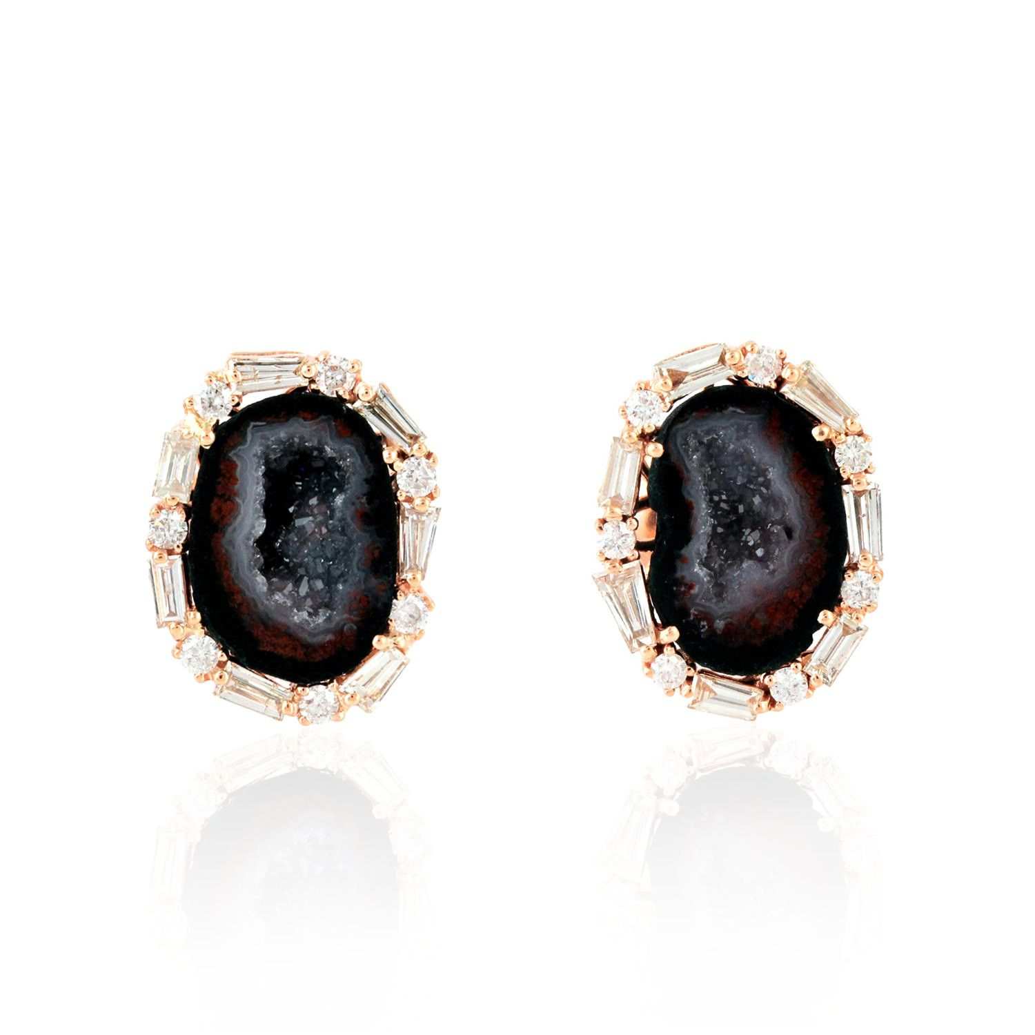 genuine diamond gold stud ruby designer loading itm image fashion ops jewelry earrings is rose