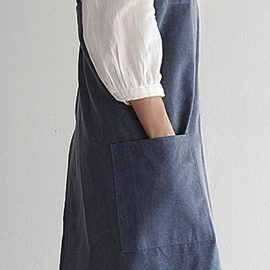 Vintage Cotton Japanese Linen Kitchen Aprons Dress with Pocket