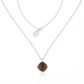 Smoky Quartz Gemstone Fine Sterling Silver Chain Pendant Necklace Manufacturer