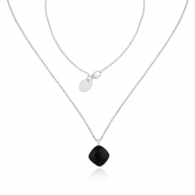 Black Onyx Gemstone Fine Sterling Silver Chain Pendant Necklace Manufacturer