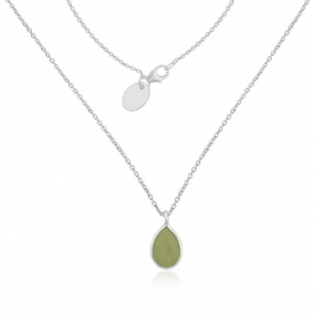 Prehnite Chalcedony Gemstone Fine Sterling Silver Chain Necklace Manufacturer
