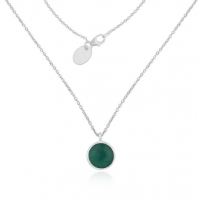 Green Onyx Gemstone Fine Sterling Silver Pendant Necklace Manufacturer India