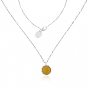 Yellow Chalcedony Gemstone Fine Sterling Silver Chain Pendant Wholesaler