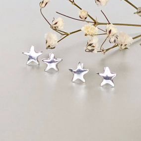 Star Ear Studs, Silver Star Earrings, Minimalist Ear Studs, Silver Ear Studs, Gifts For Her, Dainty Earrings, Ear Studs