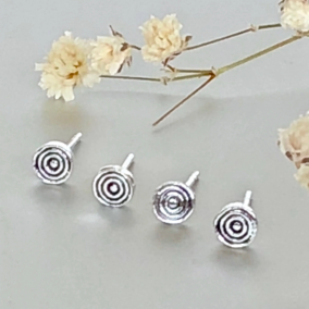 Sterling Silver Flat Round Studs, Tiny Earings, Minimalist Ear Studs, Silver Ear Studs, Gifts For Her, Pretty Ear Studs
