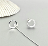 Circle Earrings, Silver Threader Earring, Silver Piercing Earrings, Silver Gifts, Minimalist Earrings, Bohemian, Delicate Earrings