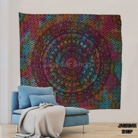 Indian Mandala Tapestry, Indian Hippie Hippy Wall Hanging, Bohemian Queen Wall Hanging, Bedspread Beach Tapestry Purple, Blue Green