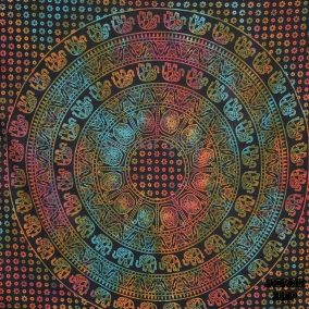 ilndian ndian Mandala Tapestry, Indian Hippie Hippy Wall Hanging, Bohemian Queen Wall Hanging, Bedspread Beach Tapestry Purple, Blue Green.  Details  Product : Wall Hanging Tapestry in Mandala Size: 90 X 85 Inches Fabric: 100% Cotton Qty: 1 Piece    We are making