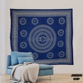 Black Human Chain Mandala Tapestry, mandala wall art, Tapestry wall hanging, Indian Hippie Bohemian Beautiful Wall Hanging Bedding